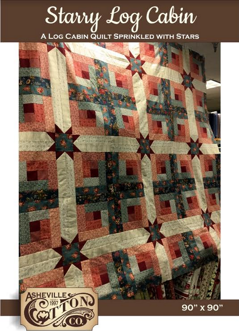 Starry Log Cabin quilt pattern