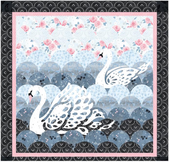 Swan Lace quilt kit