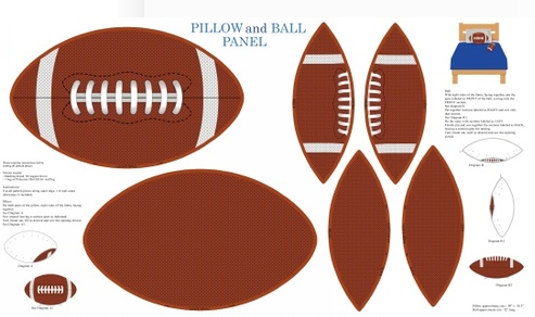 Touch Down Football Pillow Panel by Blank Quilting