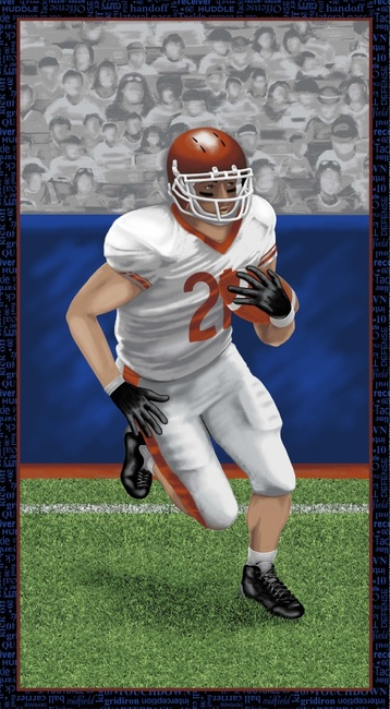 Touch Down Football Player Panel by Blank Quilting