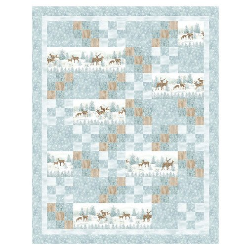Frosted Woodland by Northcott (Flannel)