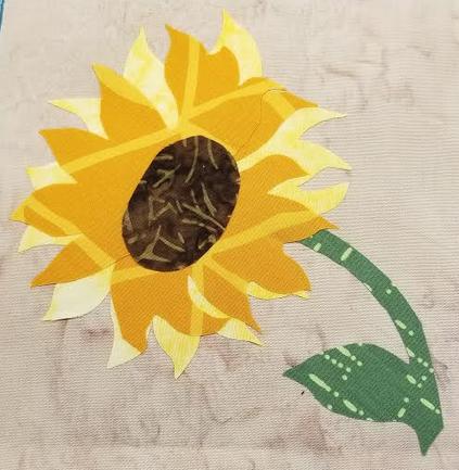 Sunflower Mug Rug 2019 Shop Hop
