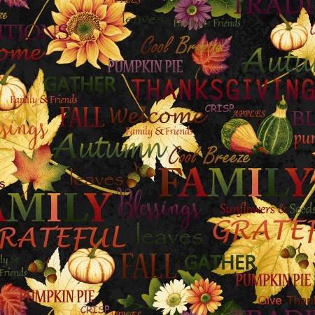Autumn Album Black Words