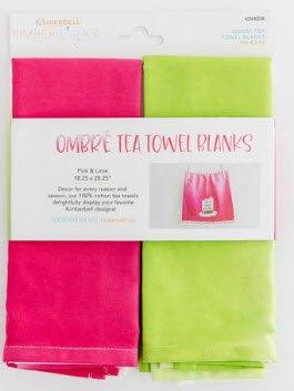 Ombre Tea Towels- February