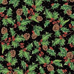Black Holly & Pinecones - Joy to the World