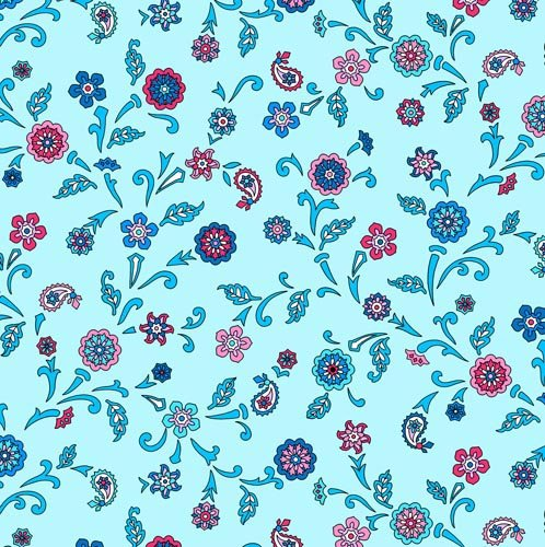Blue Multi Floral - Bombay By Suite 1500