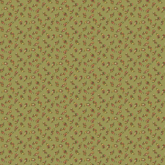 Green Small Floral  - Carlisle