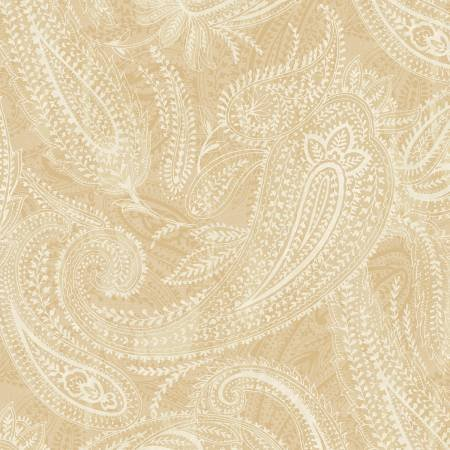 Beige Paisley 108in Quilt Back