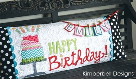 Kimberbell Birthday Pillow Kit-fabric & appliques