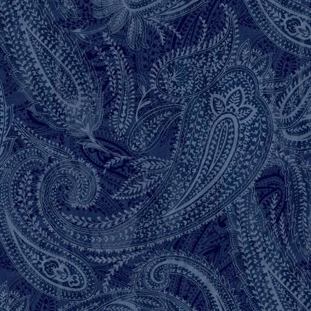 Blue Paisley 108in Quilt Back