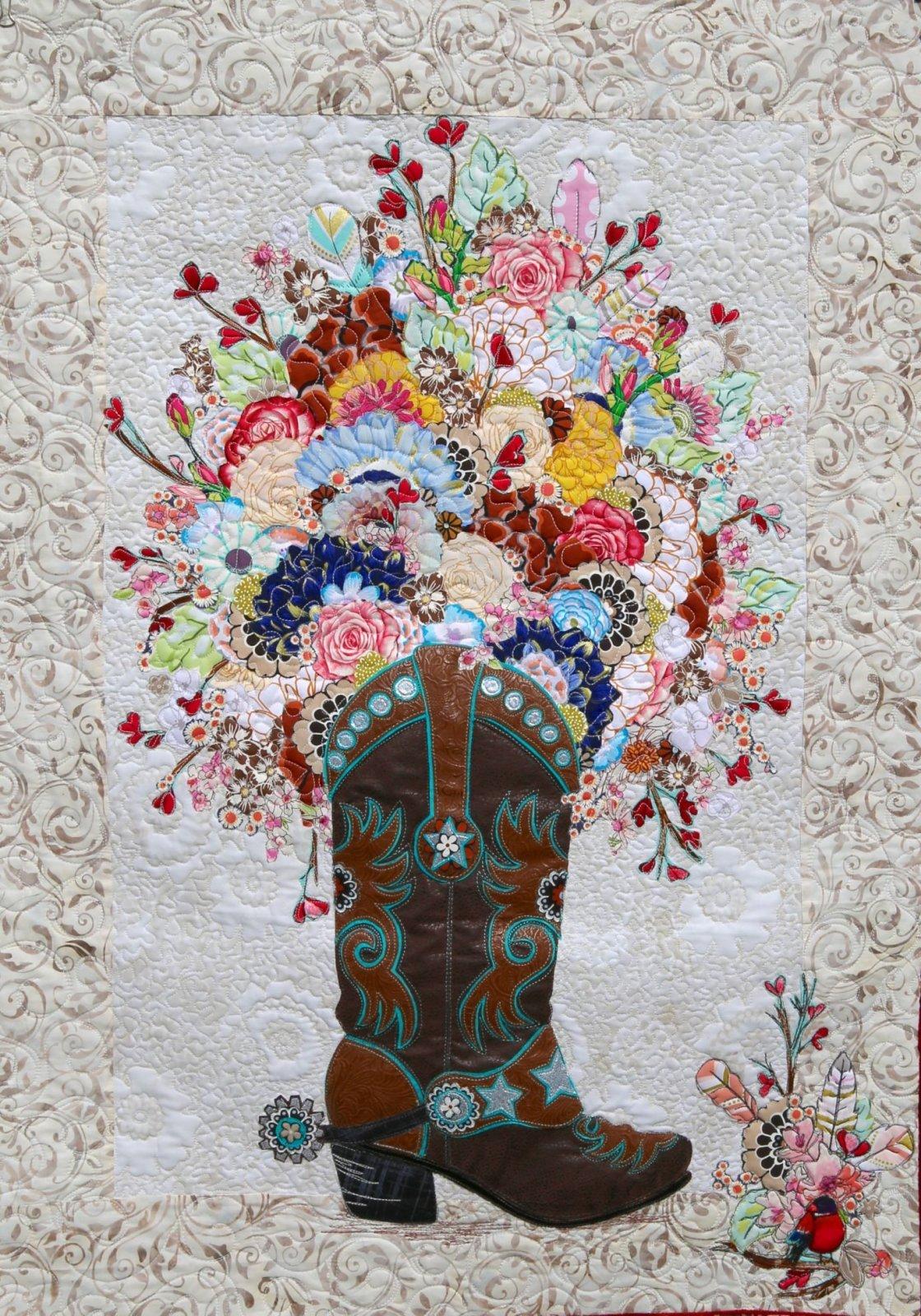 Boot Cut Blooms Pattern - Leslie McNeil