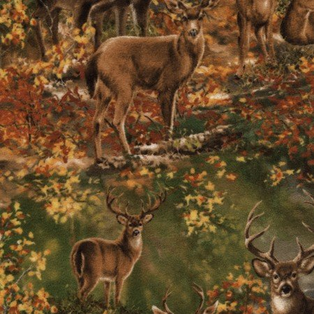 Dona Deer in the Woods - Studio Basic Flannel