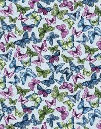 Butterflies Blue/Multi - Butterfly Forest