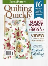 Quilting Quickly Magazine  Sept./Oct. 2015