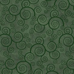 Evergreen Curly Scroll - Harmony Flannel