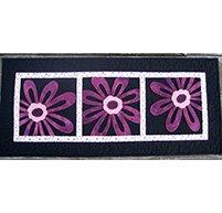 Framed Flowers Table Runner Pattern