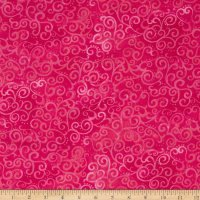 108 Wide Ombre Scroll - Hot Pink