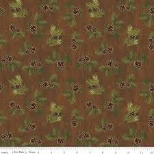 Majestic Pinecones Brown