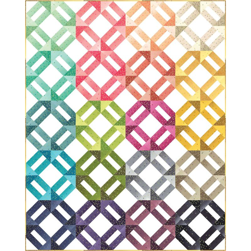 Ombre Confetti Metallic Quilt Sample