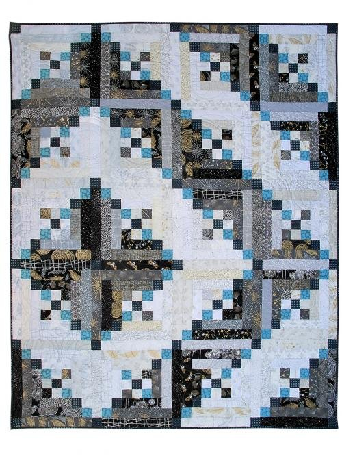 Nine to a Cabin 66x82 Quilt