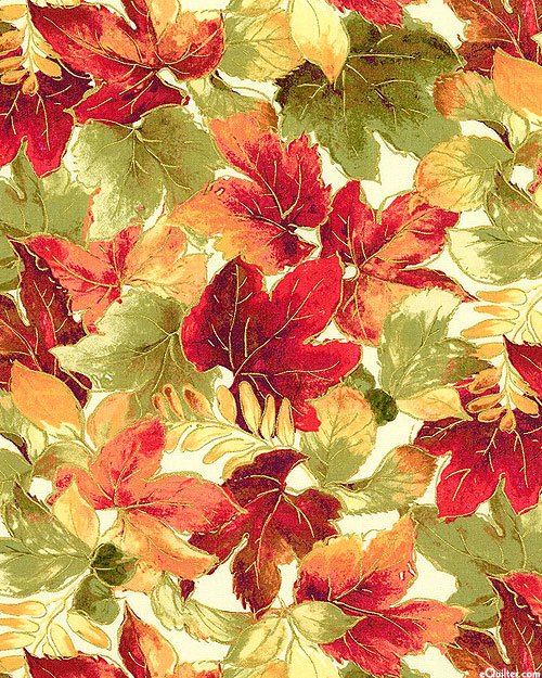Luminous Fall Leaves Metallic - Autumn Spice