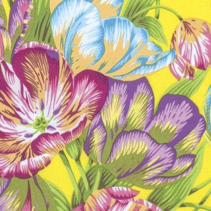 Tulip Extravaganza Yellow Kaffe Fassett Spring 2017