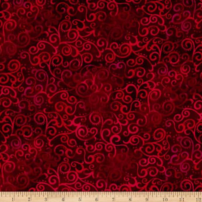 108 Wide Ombre Scroll - Ruby