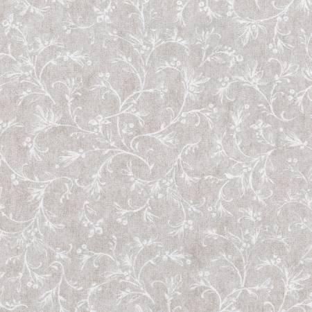 Shadow Vines w/Metallic - Winter White 3