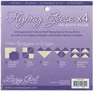 Flying Geese x 4 No Math Ruler 8 1/4 Sq