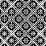 Black Diagonal Snowflakes - Winter Essentials IV