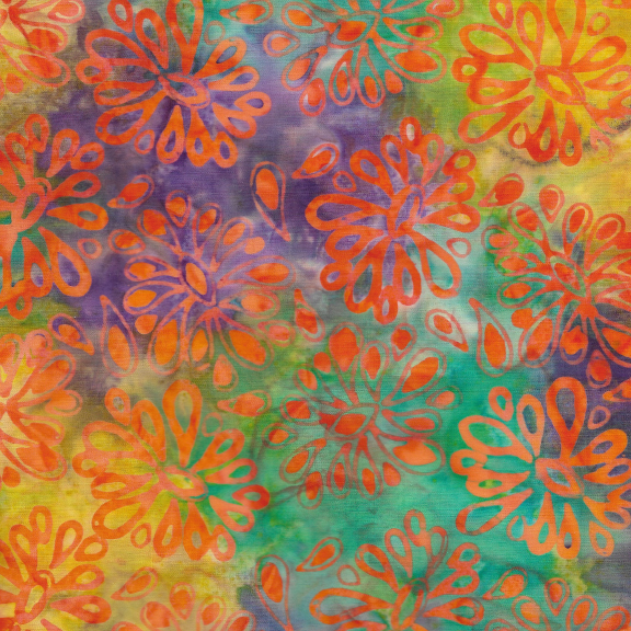 Kismet Funky Floral Snowcone Batik
