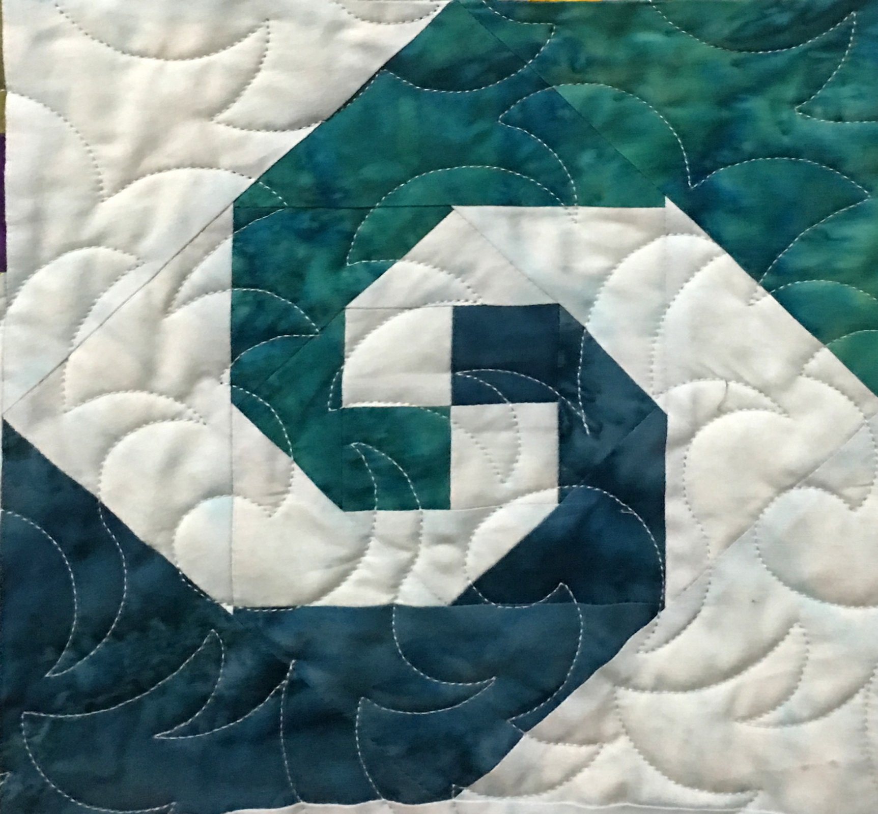 Ocean Waves - Adventure Quilt Block Seven