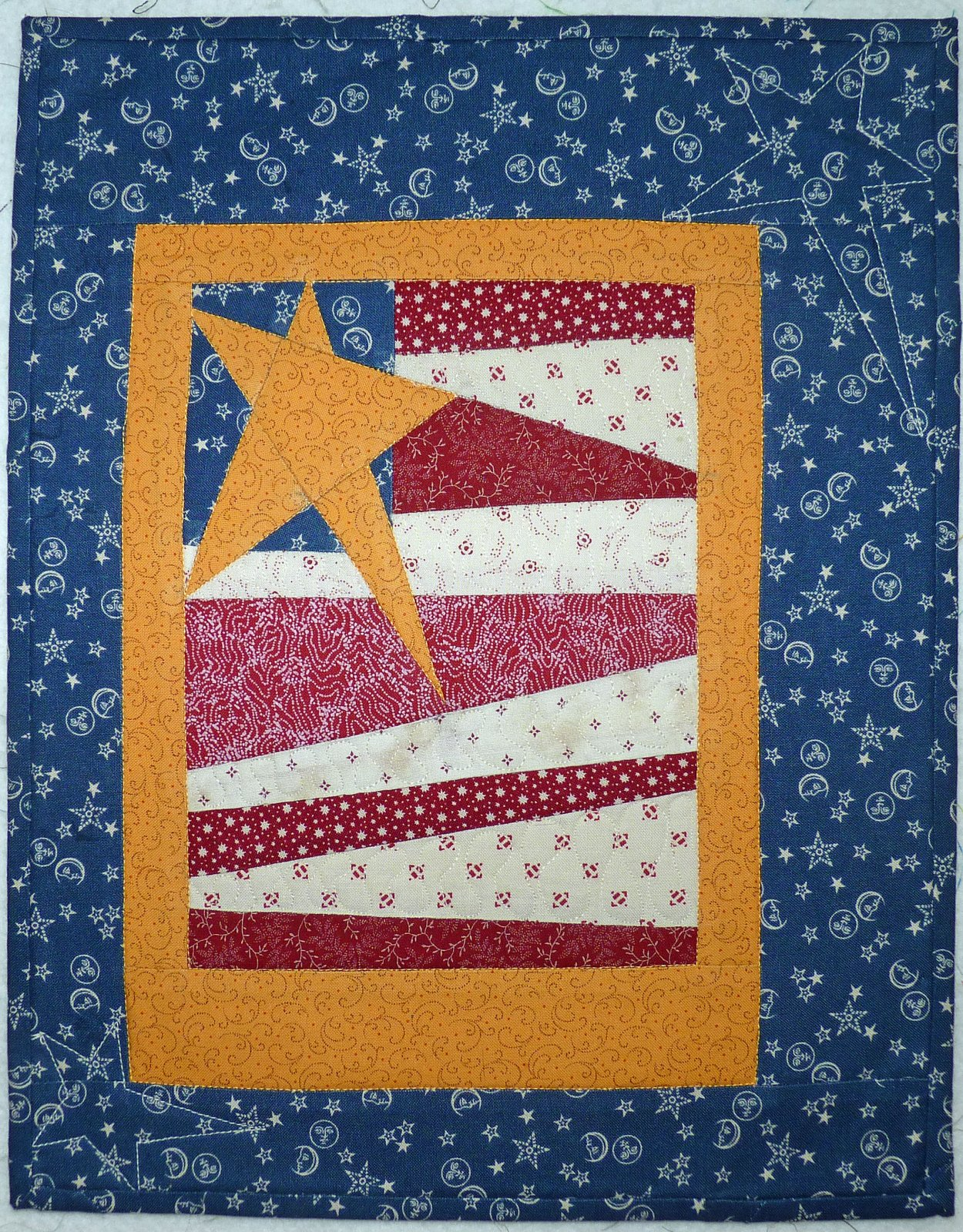Americana Flag Paper Piecing Pattern