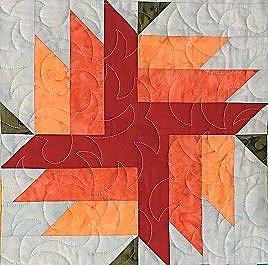 Blooms - Adventure Quilt Block Three