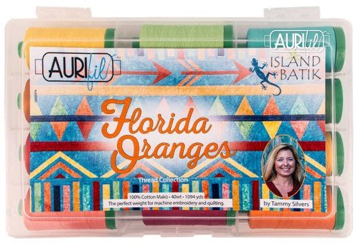 Aurifil Florida Oranges Thread Collection