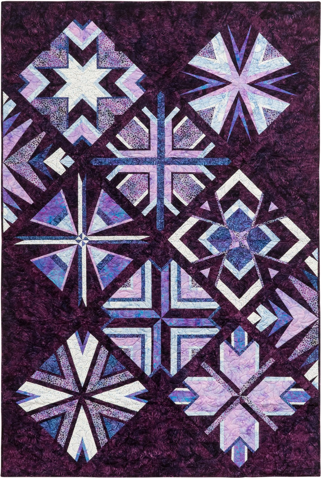 Elementz Block of the Month in Lavender Fields