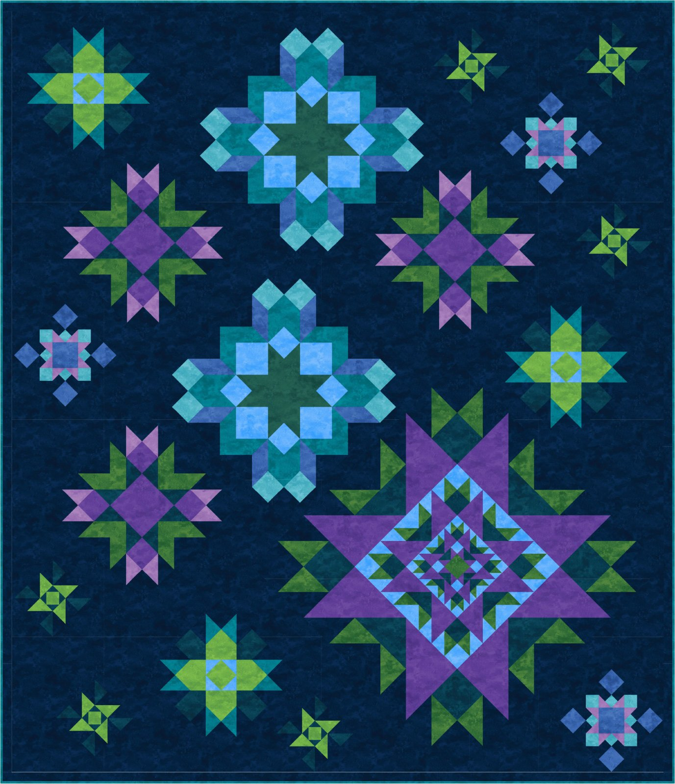 Luminous Block of the Month Full Pattern