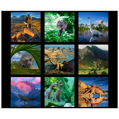 Artworks XVII (Dinosaur Patches) - panel