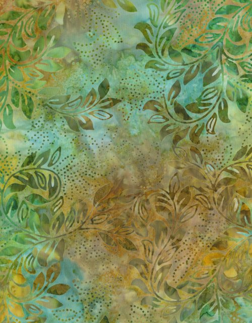 Lemon Poppy Batik - Patina Vines