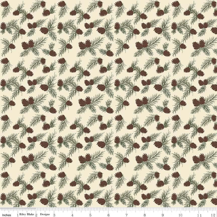 Cabin Pinecones Flannel