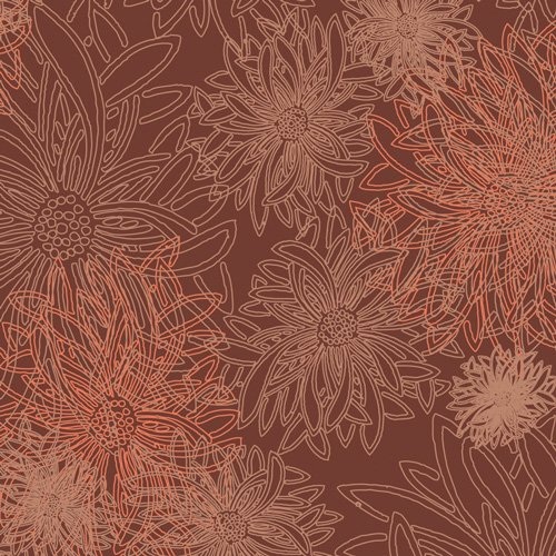 Floral Elements - Spicy Brown