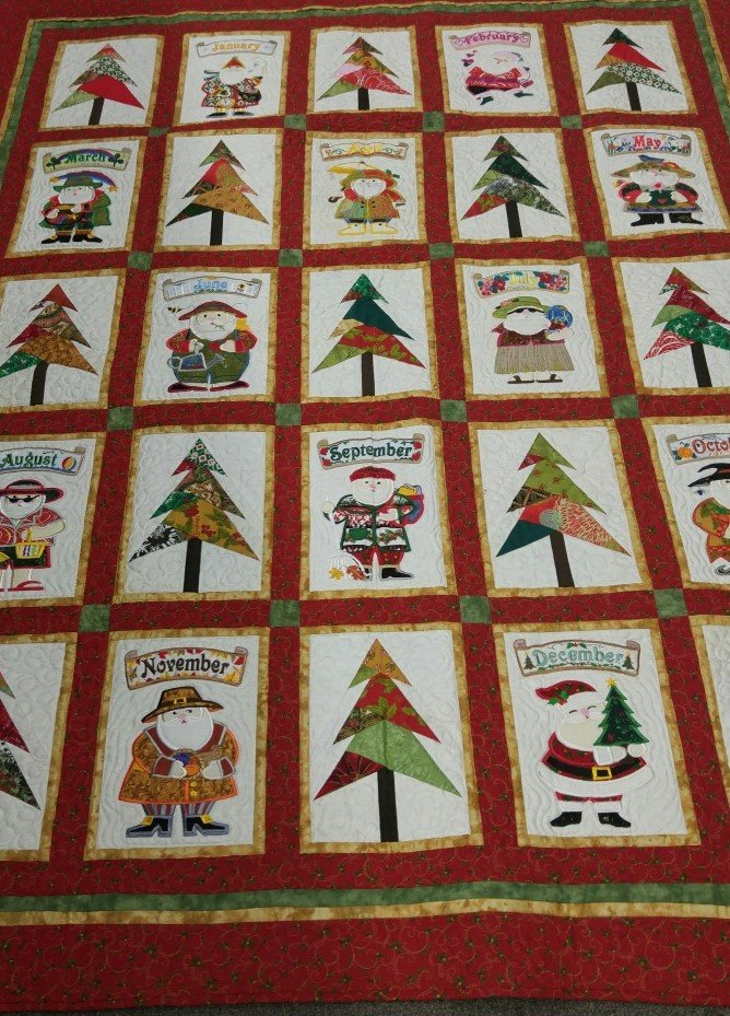 Santa for all Seasons (aka - Will's Quilt!) : all season quilt - Adamdwight.com