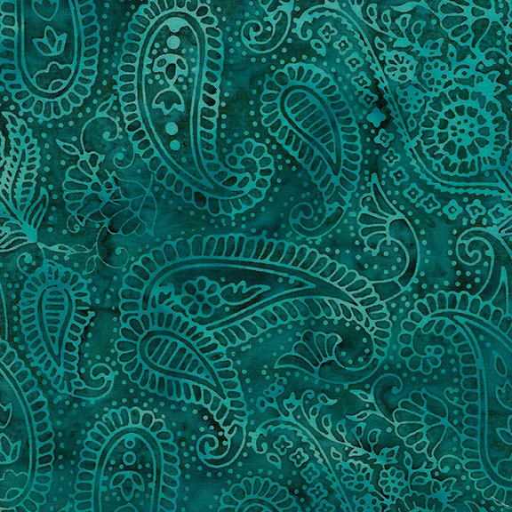 Flea Market Paisley Outlining Teal