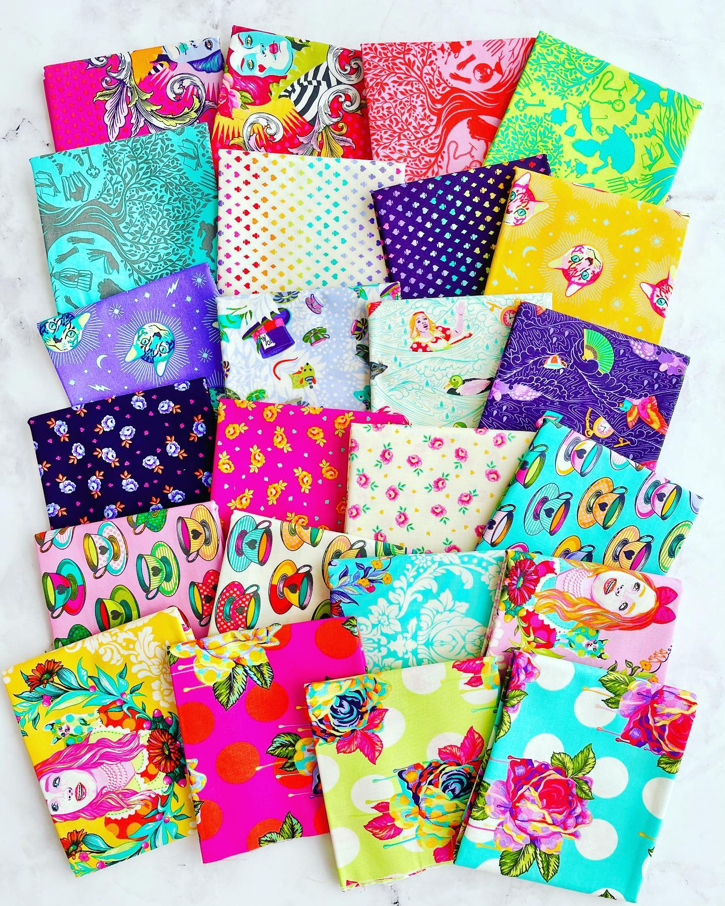 Pre-order Tula Pink's Curiouser and Curiouser Complete Fat Quarter Bundle