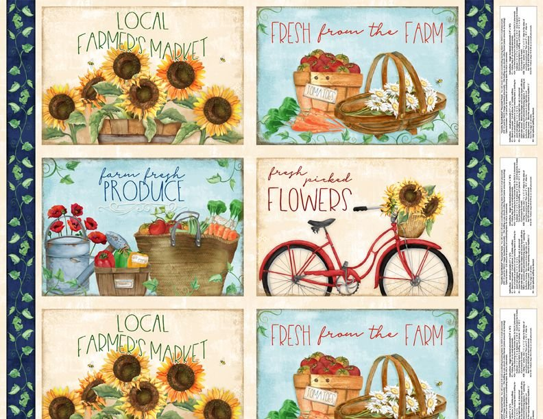 Country Road Market- Placemat Panel Multi