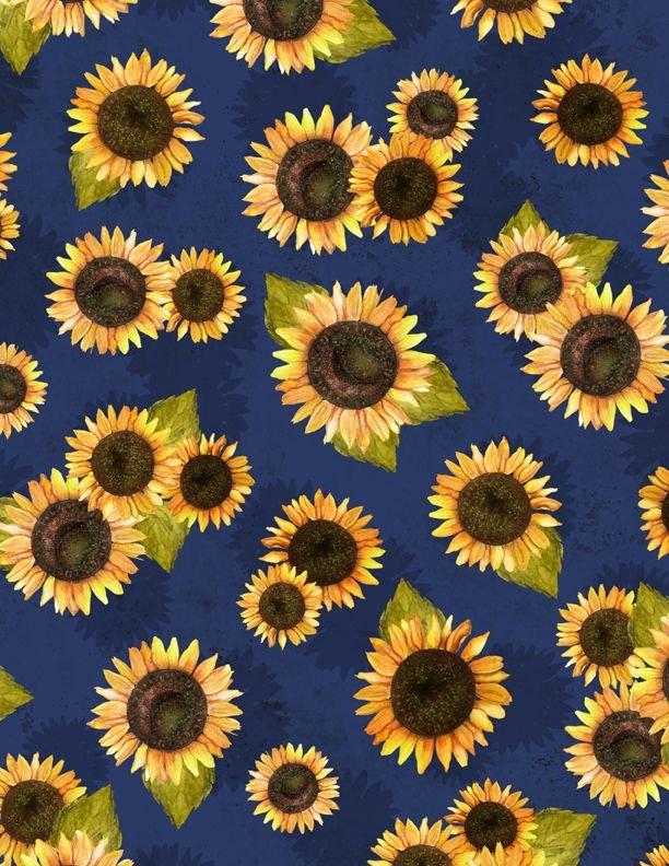 Country Road Market- Sunflower Toss Blue