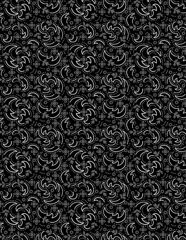 Crescent Swirl Black- Blackwood Cottage