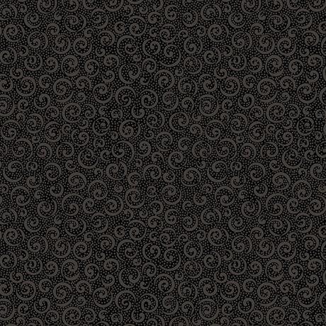 Quilting Illusions- Curly Cue Black