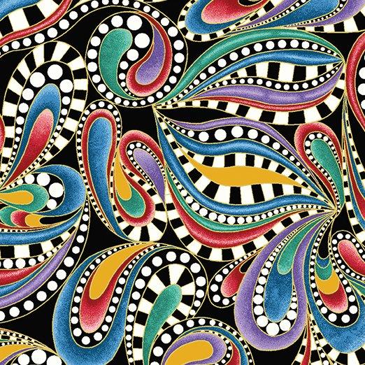 Cat-I-Tude 2 Paisley Swirl Multi-Colored
