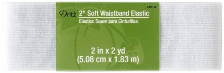 2 in Soft Waist Elastic Wht
